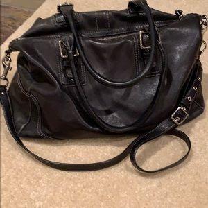 Coach Black Leather Oversized Doctor Bag